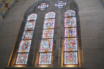 Stained Glass Window in Basilica
